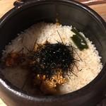 れんげ料理店 - 生うに入りの土鍋ごはん