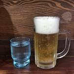 麺工房 武 - 水 + 生ビール