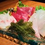 週末限定!沖縄鮮魚の刺身盛り合わせ