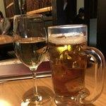 77704049 - 白ワインと烏龍茶。