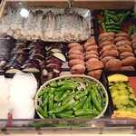 ビューアンドダイニングザスカイ - VIEW & DINING THE Sky @The New Otani 天ぷらのネタ 選んで揚げて頂きます