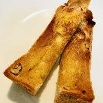 パンドミ - トーストしたら焦げてしまった…( ;  ; )でも、バター塗って美味しい♡