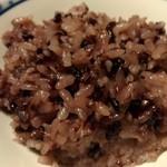 粟 - ご飯は黒米入り