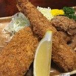 篠寿司 - 唐揚げ エビフライ