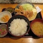 肴や 呉平 - ざんぎ(鶏の唐揚)定食