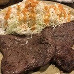 77709921 - ランプ肉Wステーキセット 1,300円
