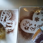 Cafe de Brique - 描いてくれた文字と絵 が違います(* ̄∇ ̄*)