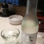 寿司政 - 伝心 雪(純米吟醸)(越前)(一本義300ml):700円