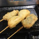 酔っ笑 - 若鶏120円、はんぺんチーズ90円、ささみ明太130円