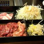 牛坊 - 上芯ロース定食(1180円)