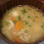牛たん炭焼利久 - 芋煮汁