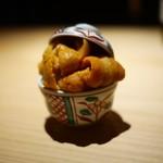 銀座 盡 - 料理写真:北海道厚岸浜中の海胆、淡路の真烏賊
