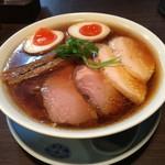 らぁ麺 紫陽花 - 特製醤油らぁ麺(麺大盛り 2017年12月初旬