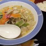77728450 - 1712_Ringer Hut -長崎ちゃんぽん- AEON JGC_Chanpon pork(Japanese Noodle)@68,000Rp(豚ちゃんぽん麺) + Shiro Gohan@12,000Rp(白ご飯)