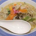 77728463 - 1712_Ringer Hut -長崎ちゃんぽん- AEON JGC_Chanpon pork(Japanese Noodle)@68,000Rp(豚ちゃんぽん麺)+Shiro Gohan@12,000Rp(白ご飯)