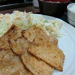 肉屋食堂 たけうち - 豚味噌ロース定食 800円