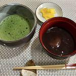 田舎庵 - ミニ栗ぜんざい(抹茶セット)950円