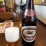 レストラン みつはし - 「瓶ビール」キリンクラシックラガー中瓶。600円也。