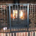 カフェ サンタマリア プラス - 12月の寒い朝は暖炉焚いてます