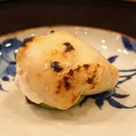 旬席 鈴江 - 南淡路産の天然河豚の白子焼き
