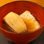 旬席 鈴江 - ノドグロと海老芋の煮もの椀 柚子の香りで