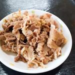 うどん一屋 - 肉皿