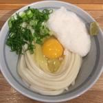 自家製さぬきうどんと肉 甚三 - 月見しょうゆ(冷) + 山芋