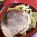 77731286 - チャーシューメン+野菜畑+白玉(くずれ) ¥810+60+10