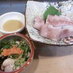 三平寿司 - 料理写真:たら白子ポン酢、イカ酢みそ