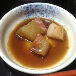 豚カツと和食 のぶたけ - 「ローストンカツ御膳」鯛の漬け
