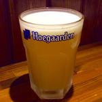 バル・カ・エール - 「白ビール」(ヒューガルデンホワイト)。