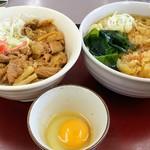 山田うどん - パンチセット+かき揚げ