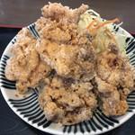 ちとせ食堂 - 鶏唐揚げあっぷ