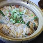 薬膳カレー静歌 - 料理写真:薬膳ニラ玉雑炊650円