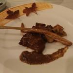 77741016 - 神戸牛肉の炒め ポルチーニソース