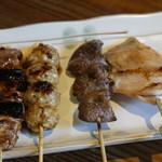 原宿タップルーム - 焼き鳥おまかせ5種