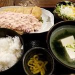 佐賀県三瀬村ふもと赤鶏 - チキン南蛮定食:900円