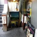 佐賀県三瀬村ふもと赤鶏 - 地下へ下りる階段