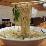 白菜タンメン楽観 - 白菜タンメン750円麺アップ