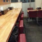 白菜タンメン楽観 - 厨房前カウンター席 導線上ですがスペース的に狭っ