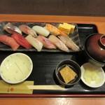 77750847 - にぎり寿司十貫