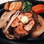 はなやす - 料理写真:黒毛和牛のヘレステーキ220g