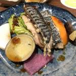 やさいの王様 - メインのお魚(鯖の塩麹) ∟豊富な酵素を含んだ本日のお魚定食 ¥1,280(税抜) 2017/12/09(土)訪問