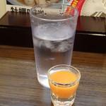 麺屋大河 - 食前の野菜ジュース