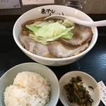 Aoki - H29.12 こってり煮干しラーメン・ランチタイムはライス無料