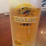ぎょうざ登 - キンキンビール