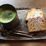 酒蔵ギャラリー六斎 カフェ コクリコ - 料理写真:ケーキセット