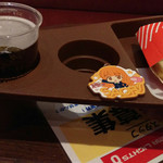 マクドナルド - ビール持ってこれから館内に~☆( セットメニューに付けられるラバストセット(+500円) )