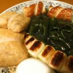 おでんやden - 3種の茸と5種の野菜入り手作り福袋 ちくわ 三陸産おさしみわかめ 焼きねぎ