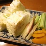 おでんやden - 味噌野菜 キャベツ 胡瓜 茗荷 パプリカ